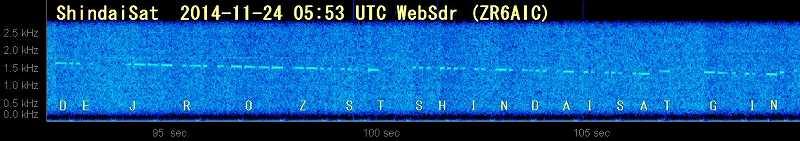 shindaisat1124-0553UTCbeacon